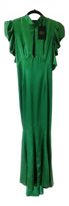 De La Vali Green Silk Dresses