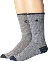Timberland Marled 2-Pack Crew Socks Men's Crew Cut Socks Shoes