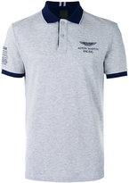 Hackett chest print polo shirt