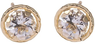Lily Flo Jewellery Large Pink Sapphire Stud Earrings On Solid Gold