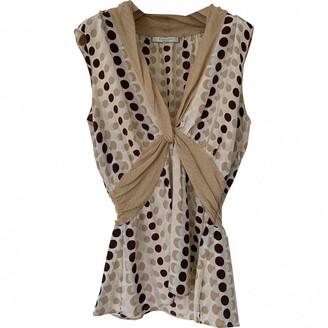 Genny Beige Silk Top for Women