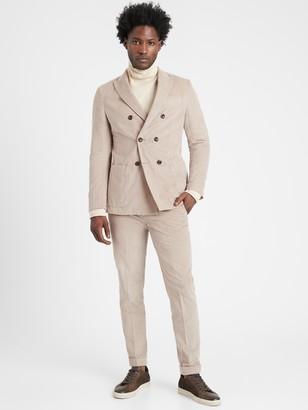 Banana Republic Heritage Slim Double-Breasted Corduroy Suit Jacket