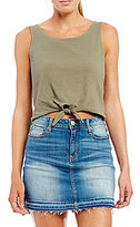 Maddie Tie-Front Cropped Tank