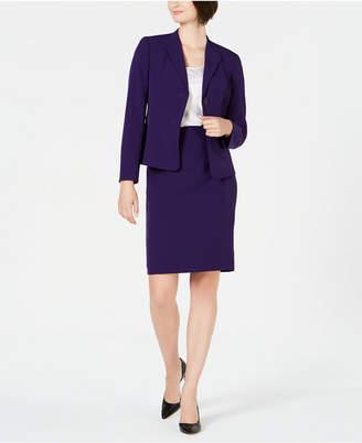 Le Suit Petite Wing-Collar Skirt Suit