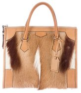 Reed Krakoff Leather-Trimmed Springbok Satchel
