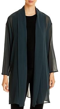 Eileen Fisher Sheer Chiffon Jacket