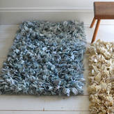 The Forest & Co Cotton And Crepe Rag Rug In Cream