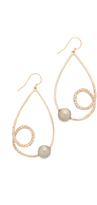 Alexis Bittar Crystal Encrusted Coiled Tear Earrings