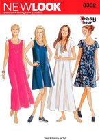 New Look 6352 Size A Misses' Dresses Sewing Pattern, Multi-Colour