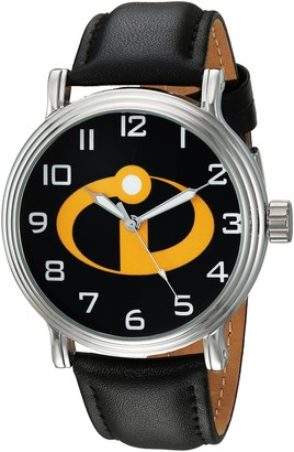 Disney Men's WDS000580 The Incredibles 2 Analog Display Analog Quartz Black Watch