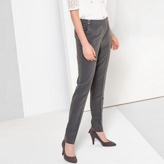 """Anne Weyburn Stretch Twill Straight Leg Trousers, Length 30.5"""""""