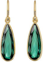 Irene Neuwirth Women's Pear-Shaped Drop Earrings-Green