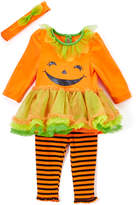 Orange Pumpkin Tunic & Stripe Leggings Set - Infant & Toddler