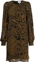 Ganni Tiger Print Dress
