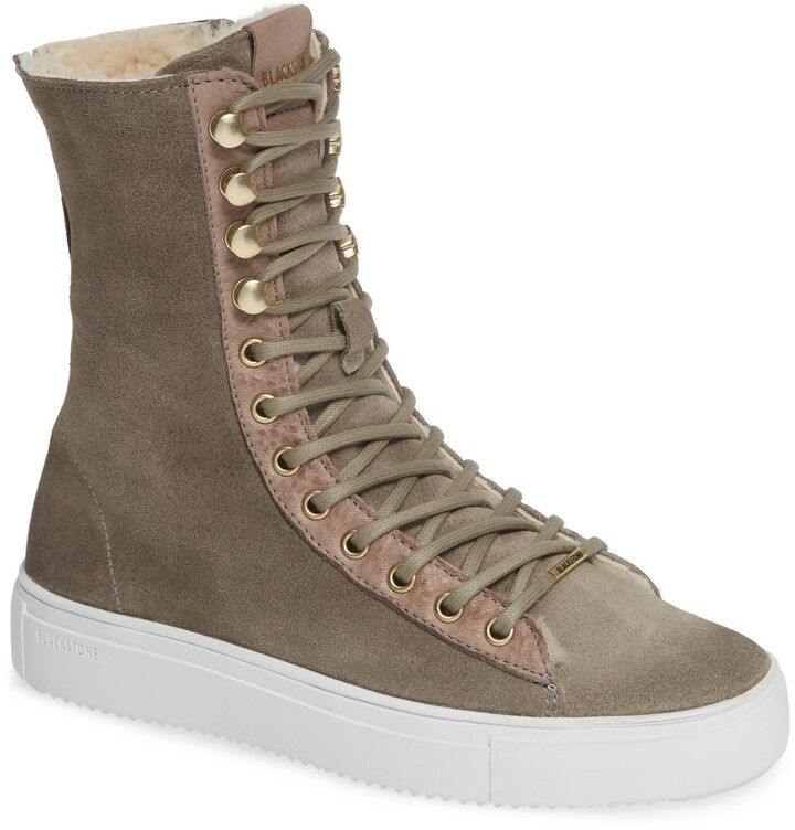 6a668f1ed2a QL50 Genuine Shearling Lined High-Top Sneaker Boot