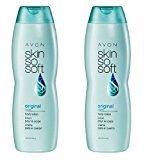 Avon LOT OF 2 SKIN SO SOFT SSS ORIGINAL + JOJOBA Body Lotion 11.8 fl oz.ea