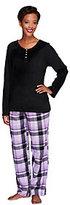 Carole Hochman Petite Pajama Set with Fleece Top & Flannel Pants