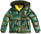 Diesel Hooded Camouflage Nylon Down Jacket