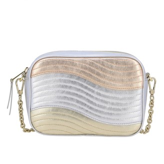 Furla Mini Bag Zeus Shoulder Bag In Laminated And Quilted Leather