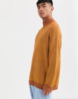 Noak high neck sweater in orange