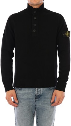 Stone Island Button Up Knitted Pullover