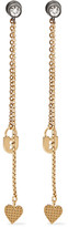 Lanvin Gold-plated Swarovski Crystal Earrings - one size