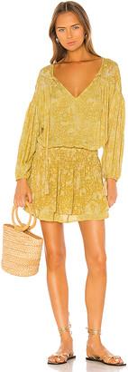 Indah Sashi Printed Blouson Mini Dress