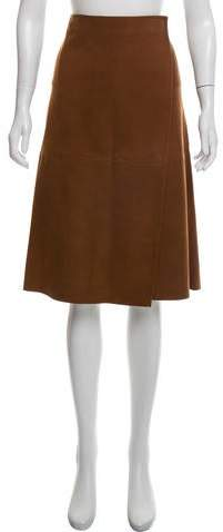 Suede Wrap Skirt