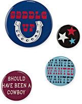 Asstd National Brand 4-pc. Cowboy Handbag Pin Set