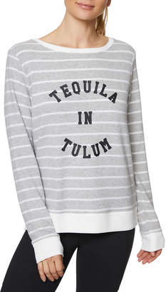 Betsey Johnson Tequila In Tulum Striped Pullover Top