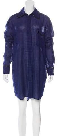 Isa Arfen Wool Embellished Dress