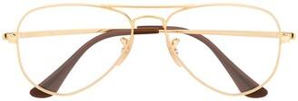 Ray Ban Junior Aviator Framed Glasses