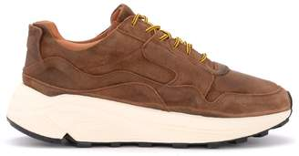 Buttero Vinci Sneaker In Brown Aged Leather