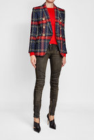Balmain Embellished Wool Top