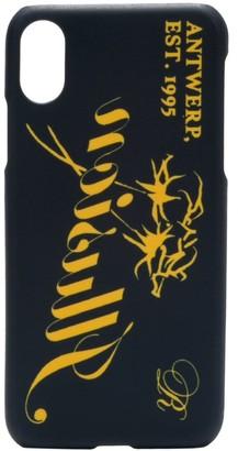 Raf Simons slogan print iPhone X case