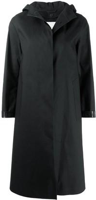 MACKINTOSH CHRYSTON Black Bonded Cotton Hooded Coat | LR-1002D