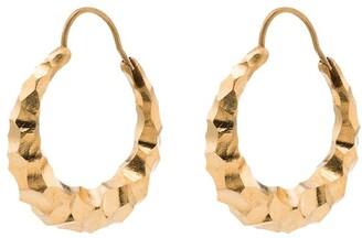 All Blues Hungry Snake hoop earrings