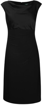 Lauren Ralph Lauren Lauren Womens Chelley Cap Sleeve Midi Dress