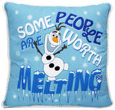 """Jay Franco Frozen Olaf Graphic-Print 14"""" Square Decorative Pillow"""