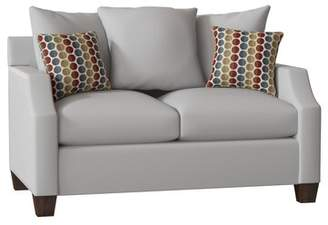 Piedmont Furniture Julia Loveseat Piedmont Furniture Body Fabric: Bulldozer Lightning, Pillow Fabric: Pure Petals Leaf