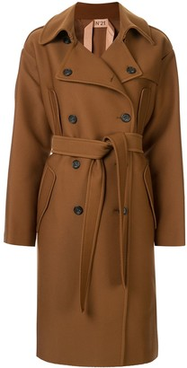 No.21 Oversized Double-Breasted Trench Coat