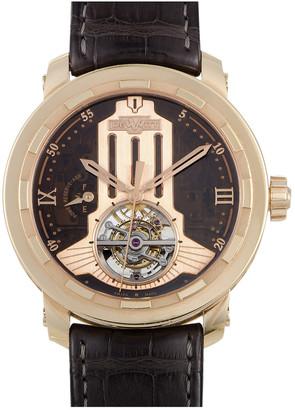 Dewitt Men's Leather Watch