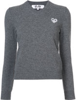 Comme des Garcons White Heart knit pullover