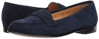 Gravati Perforated Trim Flat (Navy) Women's Flat Shoes