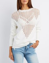 Charlotte Russe Perforated Pullover Sweater