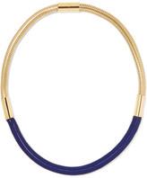 Isabel Marant Oldbrish Gold-tone Braided Necklace - Navy