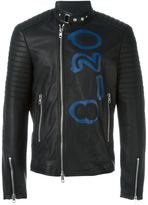 Diesel Black Gold 'Lime-Print' waxed jacket - men - Calf Leather/Acetate/Cupro - 46