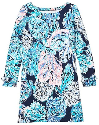Lilly Pulitzer UPF 50+ Mini Sophie Ruffle (Toddler/Little Kids/Big Kids) (High Tide Navy Party in Paradise) Girl's Clothing