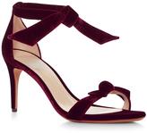 Alexandre Birman Clarita Velvet Tie Front Sandals