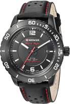Wenger Men's 01.0851.123 Roadster Analog Display Swiss Quartz Black Watch